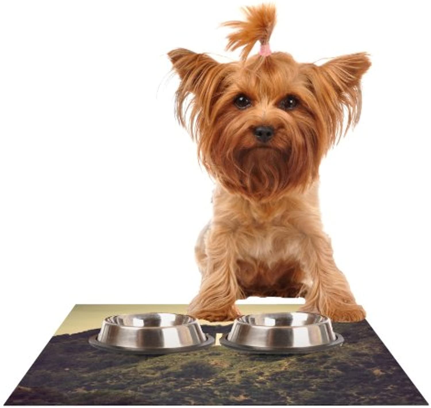 Kess InHouse Catherine McDonald Hollywood  Feeding Mat for Pet Bowl, 24 by 15Inch
