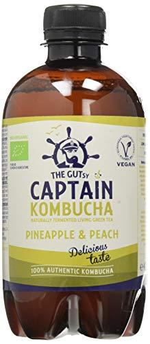 Captain Kombucha Bebida de Piña, 430 ml, Pack de 1