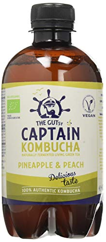 Captain Kombucha - Pineapple Peach Splash - 400 mililiter