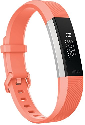 Fitbit - Alta HR - Bracelet d'Activité - Mixte Adulte - Orange (Coral) - Taille: L
