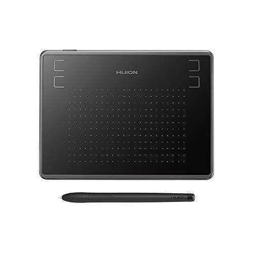 Fesjoy Tablette numérique, Tableta gráfica H430P Tableta de dibujo con 4096 niveles Sensibilidad a la presión 5080LPI Resolución de lápiz 233PPS Tasa de informe