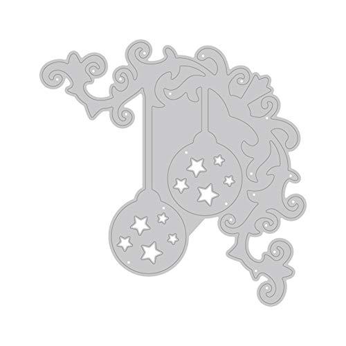 TankMR kerstbal hanger metaal stansvormen, sjabloon voor doe-het-zelf scrapbook album papier kaart kunst handwerk decoratie zilver