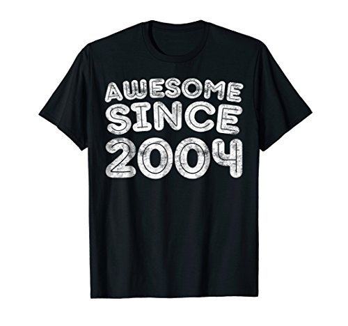 Awesome Since 2004 T-Shirt 15th Birthday Gift Shirt