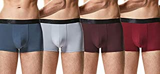 Ruiyy-1 Men's All Day Boxer Briefs Multipack Cotton Spandex Waistband Trunks 4 Pack