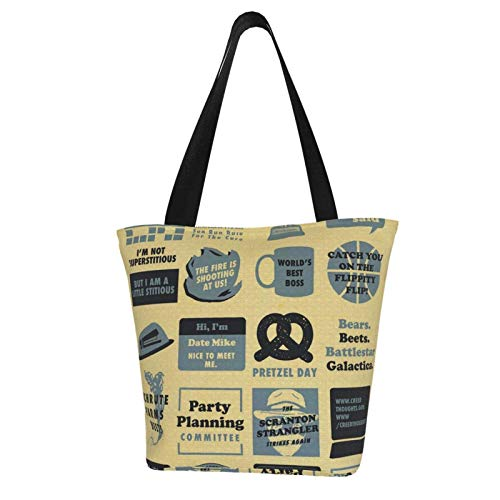Hagerloo The Office Quote Mash-Up PersonalizedTote Bag para mujer, bol