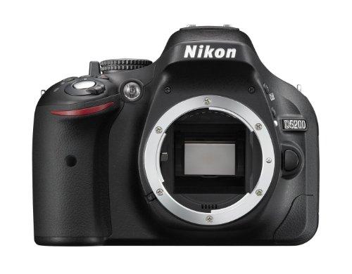 Nikon D5200 Body Fotocamera SLR Digitale, 24.1 Megapixel, Display TFT da 7.6 cm (3 Pollici), Full HD, HDMI, Colore Nero [Versione EU]