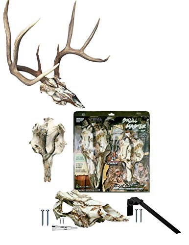 Mountain Mike's Reproductions Skull Master Antler Mounting Kit, Snow Camo Dipped