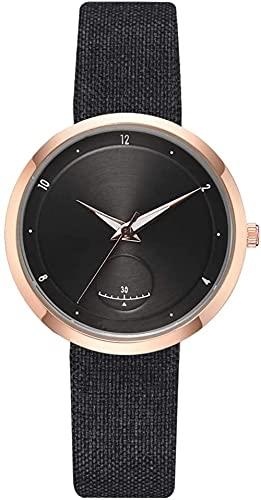 JZDH Mano Reloj Relojes de Mujer Relojes de Pulsera Moda Casual Moda Unisex Correa de Cuero Reloj Reloj de Lentes for Hombres Regalo de Regalo Negro Relojes Decorativos Casuales