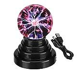 Bola de Plasma, Bola del Plasma de la Lámpara de Luz [Pantalla táctil] Nebulosa Esfera Juguete de la Novedad Mundial, USB o con Pilas, Como Regalo para la Navidad Festival/Cumpleaños Mostrar