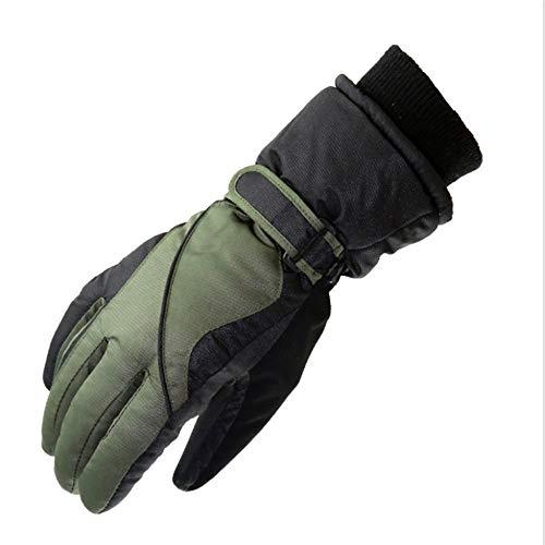 YIBANG-DIANZI para Esquiar de Invierno. Hombres Impermeables Guantes de esquí Ciclismo Senderismo Tabla de Snowboard Guantes de Invierno Guantes de esquí (Color : Green)