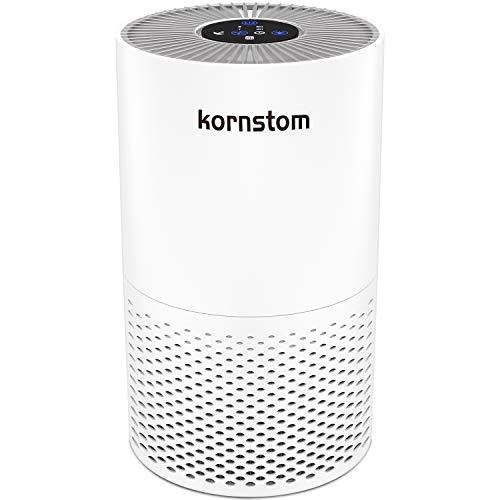 Kornstom 空気清浄機 HEPAフィルター 空気清浄器 煙 ほこり 花粉 ペットの髪の毛除去 アレルギー患者/喫煙者に最適 寝室 オフィス用