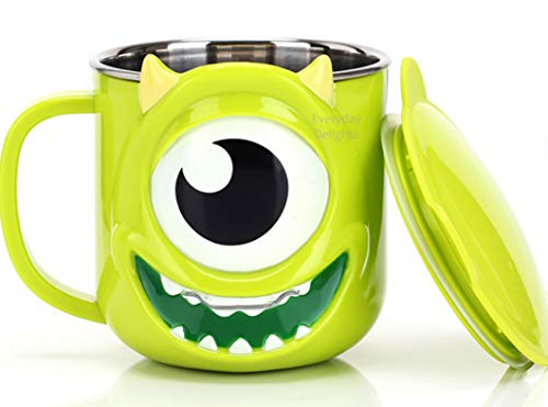 Disney 3D Monster University Mike Green Durable Edelstahl Isolierbecher mit Deckel, 250 ml