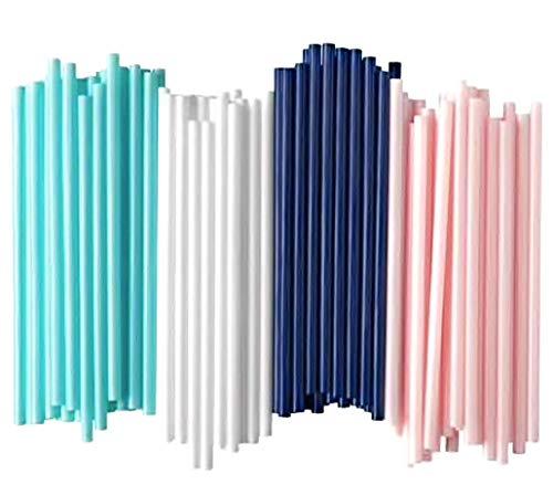 Ikea NEUF Sotvtten Paille/paille Yoghourt/Smoothie pailles? grossier Paille, Vert clair, bleu clair, Rose pâle, Lot de 1