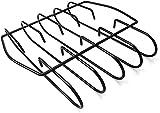 Dengbang Rib-Rack zum Räuchern,Barbecue-Rib-Halter,BBQ-Rib-Roast-Rack-Zubehör,Antihaft-Eisen,für Ersatzholzkohlegrill-Räucherständer
