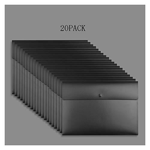 JKXWX Bolsa de Documentos Bolsa de Documentos, Bolso de Documentos Resistente al Agua de tamaño A4, para Proteger Objetos de Valor, Documentos (Negro, Blanco) Bolsa de Archivo