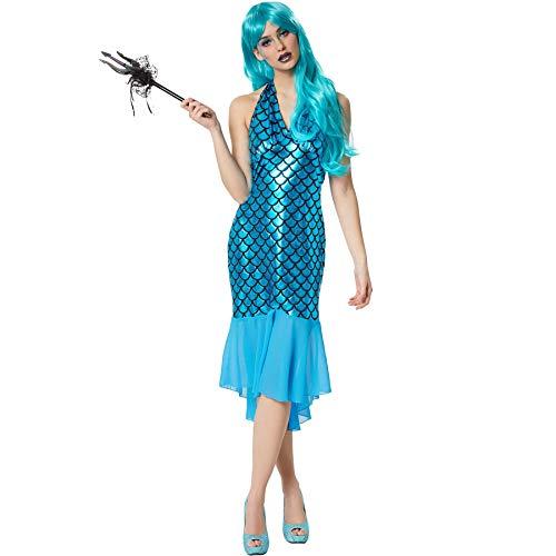 dressforfun 900625 Damen Meerjungfrau Kostüm, sexy Kleid für Karneval Fasching Party - Diverse Größen - (L | Nr. 303142)