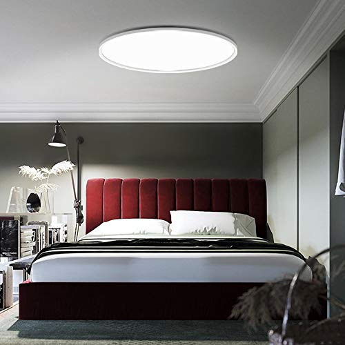 PANNELLO LED Deckenleuchte, Φ52cm/ 40W/ Ra95 /IP40 Augenschutz Deckenlampe, Blendfrei Rund Modern Lampe Schlafzimmer Küche Wohnzimmer Flur Kinderzimmer Arbeitszimmer (3000K)