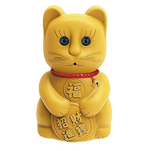 CHENPENG Cámara espía HD 1080P Cute Lucky Cat, cámara Oculta WiFi, con Detector de Movimiento de visión Nocturna de Audio y Video, para Escritorio en casa, Tablero de Instrumentos