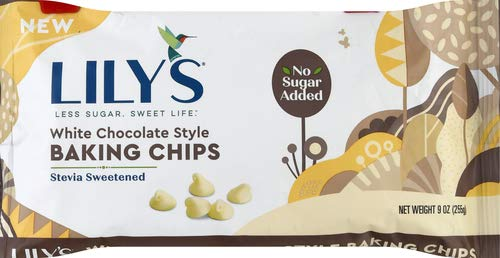 Lily's Chocolate, Baking Chips White Chocolate Style, 9 Ounce