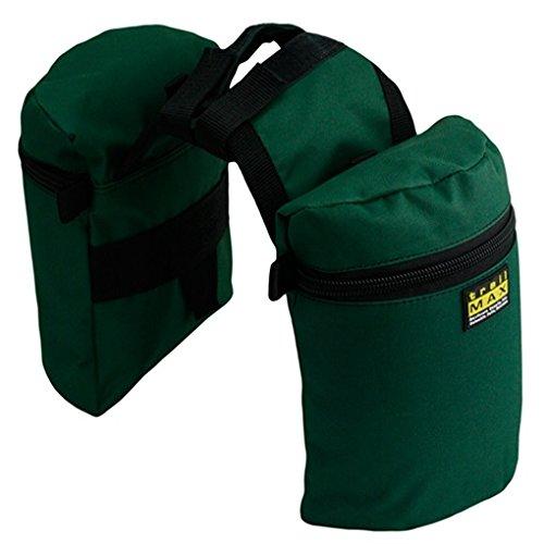 Trailmax Junior - Alforjas para silla con cuerno - Equipaje para silla vaquera de cowboy - Verde