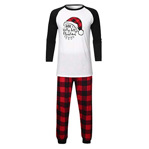 Cuteelf Weihnachten Eltern-Kind-Anzug Brief drucken T-Shirt + Plaid gedruckt Hosen Home Service Anzug Weihnachten Familie Kleidung Pyjamas niedlichen bequemen Eltern-Kind-Anzug