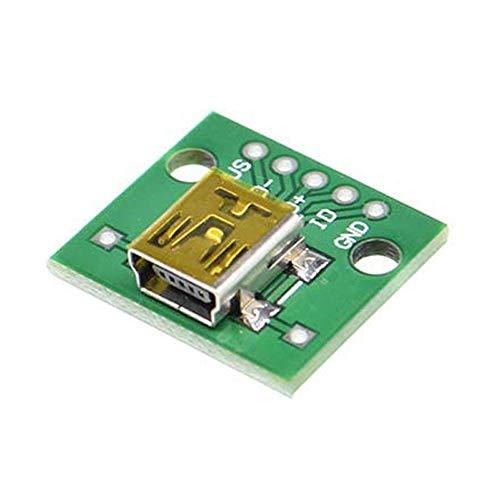 10 UNIDS Mini USB Hembra Enchufe para Dip Board Pitch 2.54MM Mini 5PIN 5p Conector Hembra Conector Jack Adaptador convertidor