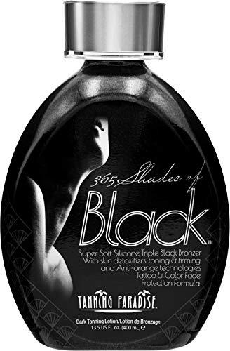Tanning Paradise 365 Shades of Black, Triple Black Bronzing | Skin Detoxifiers, Toning & Firming Tanning Lotion 13.5oz