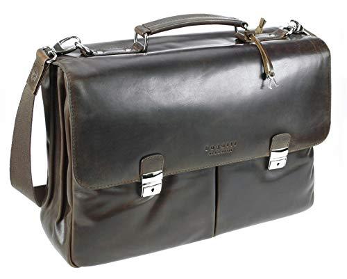 Bugatti Romano Aktentasche Groß, Laptoptasche aus echtem Leder, große Businesstasche 13
