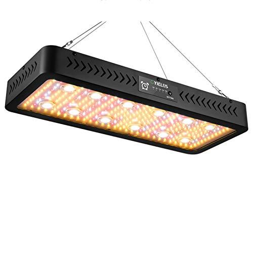 Lámpara De Planta De 3600 W, Lámpara De Crecimiento De Espectro Completo Similar Al Sol, Chips LED COB Y SMD Para Invernadero De Plantas De Interior, Con Temporizador De Doble Interruptor