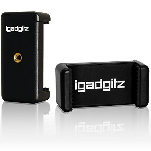 iGadgitz U3599 Adattatore di Fissaggio Supporto Pinza Clip Smartphone Universale Compatibile con treppiedi e Bastone Selfie Stick