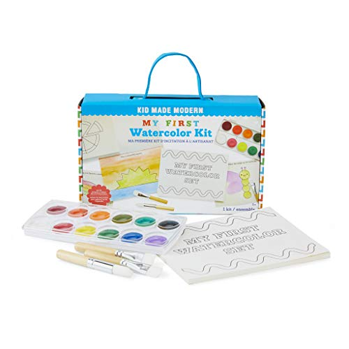 Kid Made Modern Toddler Paint Set My First Watercolor Kit - Activity Set for Ages 3 and Up