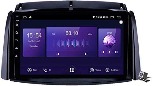 Lettore multimediale Android 10 auto stereo per Renault Koleos 2008-2016 Supporto Navigazione GPS/Carplay Auto/Autoradio/Bluetooth Controllo volante/RDS DSP FM ecc