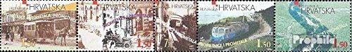 Chorwacja 485-489 Pi?? pasów (pe?ne.Kwestia.) 1998 Ruch drogowy Chorwacja (Znaczki dla kolekcjonerów) Pociagi / kolej / kolejka linowa