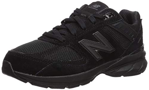 New Balance Boys' 990v5 Running Shoe, Black/Black, 6 M US Big Kid