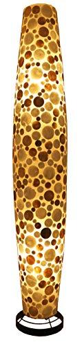Guru-Shop Stehlampe/Stehleuchte, in Bali Handgemacht aus Naturmaterial, Capiz/Perlmutt - Modell Apollo-capiz, Fiberglas, 150x26x26 cm, Stehleuchten aus Naturmaterialien
