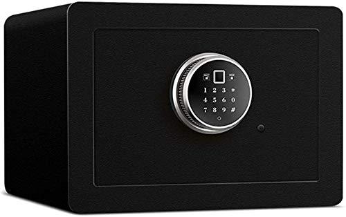Kluizen voor huizen Stuk Antidiefstal Systeem Beveiliging Safebox Zwart met geld Geld Kostbaarheden Elektronisch wachtwoord Nachtkastje (afmeting: 35 * 35 * 30cm)