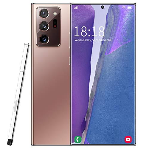 Mobiltelefone, Dual-SIM-Telefon entsperrt, Note20U + Android 10, 6,9-Zoll-19: 9-Display, Quad-Core 12 GB + 512 GB, 18 MP + 48 MP Dual-Rückfahrkameras, 5000 mAh