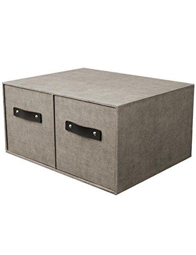 KKCF Armoire de Rangement de ménage Tiroir Petite boîte de Rangement Vêtements Chaussettes dépenses familiales(Couleur : Gray)