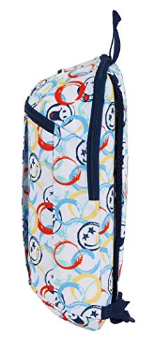 41aQ99nQr2L - Mini Mochila Safta de Uso Diario de Smiley World Art, 220x100x390mm