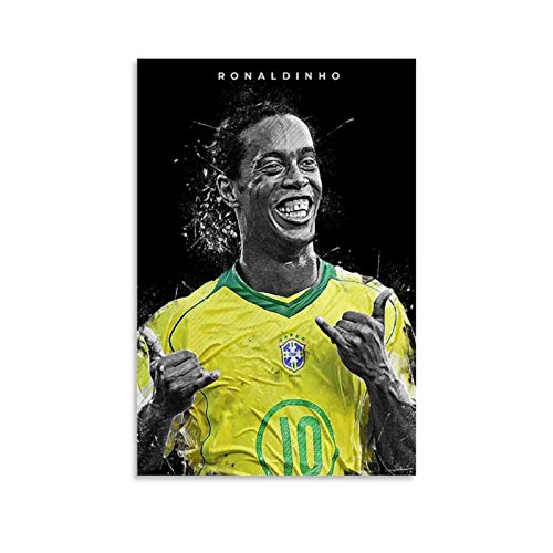 GSSL Fußballposter Ronaldinho, dekoratives Gemälde, Leinwand, Wandkunst, Wohnzimmer, Poster, Schlafzimmer, Gemälde, 30 x 45 cm