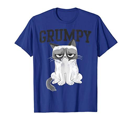 Grumpy Cat Collegiate Cartoon Graphic T-Shirt