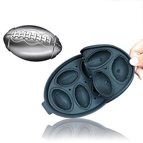 Eiswürfel-Form-Hersteller Rugby-Form-Silikon Tabletts Schokoladen-Form-Küche-Werkzeug 3D-Stab-Partei QiuGe (Color : Black)