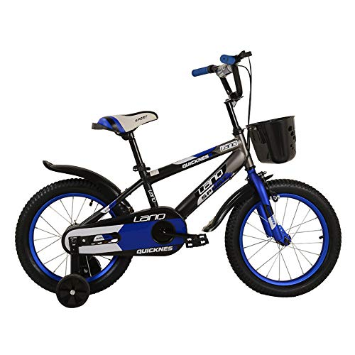 Buy Home Gym Children's Bicycle Kids Boys Gilrs Bike 12inch with Stablizers Age 3-5Y (Color : Blue)