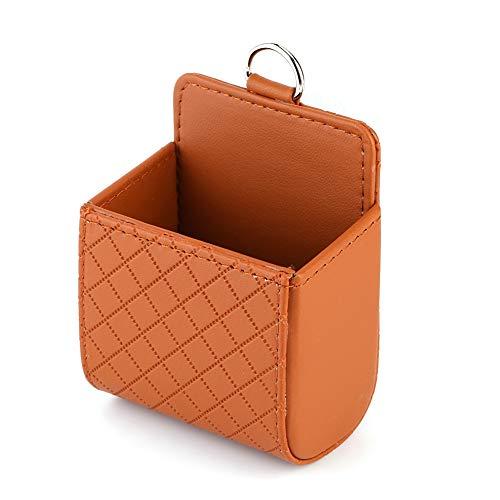 DEWIN Auto Air Vent Organizer, Brown Auto Universal Aufbewahrungsbeutel Tasche Telefon Mod Sun Glass Box Holder Pocket Organizer