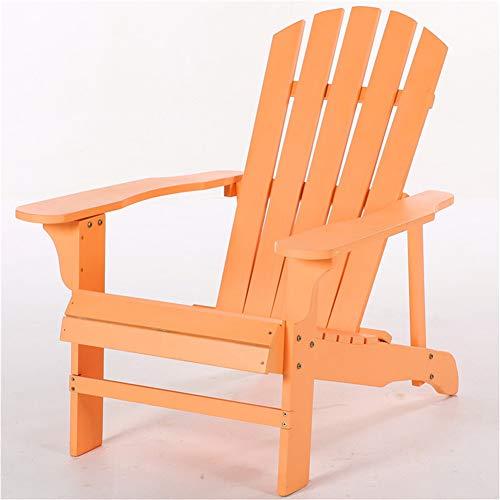 ZDYLM-Y Folding Wood Adirondack Chair, Heavy Duty HDPE Weatherproof Weather Resistant Chair, for Garden, Backyard & Lawn, Set of 2,Orange