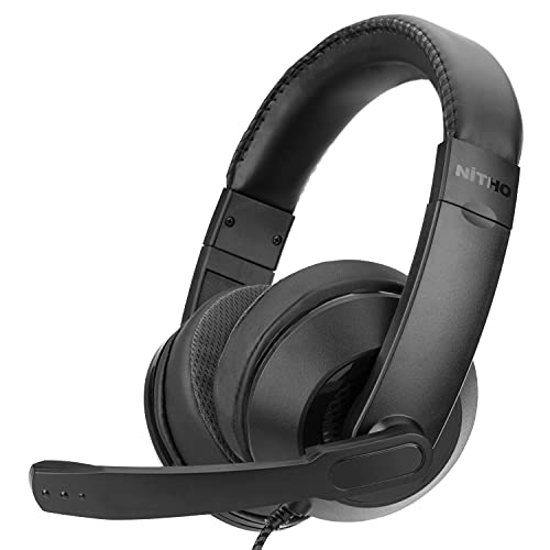 NX100S Stereo Headset with Foldable Microphone, Compatible with PS4/Xbox One/Switch/Phone