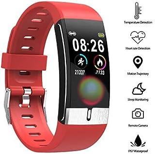 YUN Clock@ Mujer Reloj Inteligente Medición Termómetro con GPS Podómetro Fitness Tracker Pulsera Admite La Función De Cronómetro Impermeable Ip67 Reloj Deportivo con Podómetro Pulsómetro