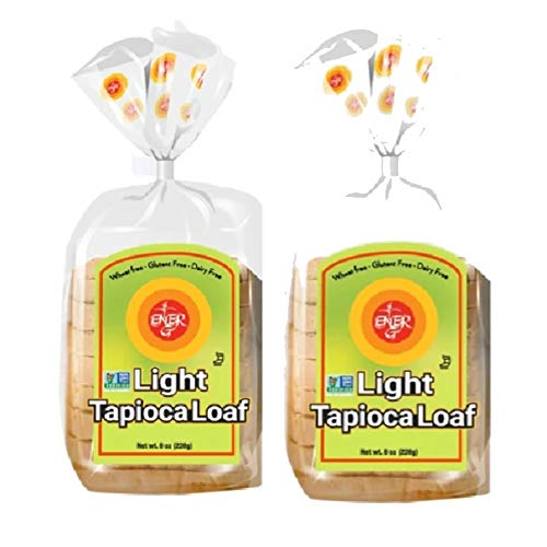 Gluten Free Light Tapioca Loaf by Ener-G | Vegan Sliced Bread | Low-Protein, Non-GMO, Kosher | Double Pack-8 oz/ 10 Slice Loaf