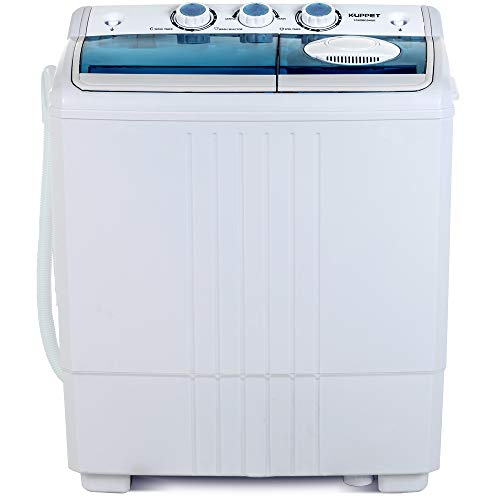 KUPPET Compact Twin Tub Portable Mini Washing Machine 21lbs Capacity, Washer(14.4lbs)&Spiner(6.6lbs)/Built-in Drain...
