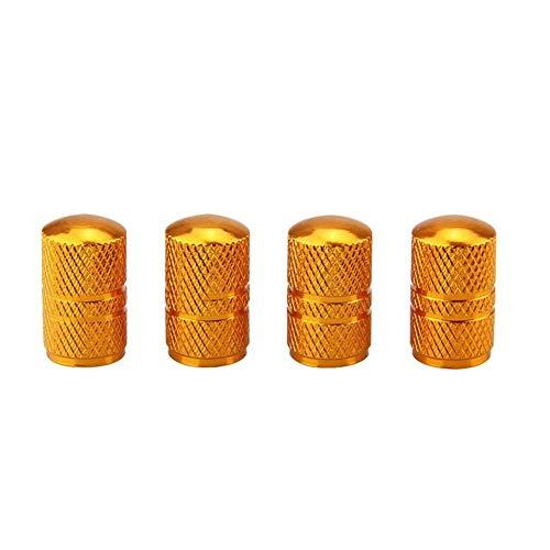 tapas de válvulas 4 piezas Universal Car Moto Bike Neumático Tapas de válvula de rueda for E90 E60 E39 E36 Peugeot 307 Renault VW Golf 4 Opel Astra H Para neumáticos (Color : Gold)
